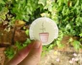 Positive Plants ∙ Self care sticker set ∙ Positivity stickers