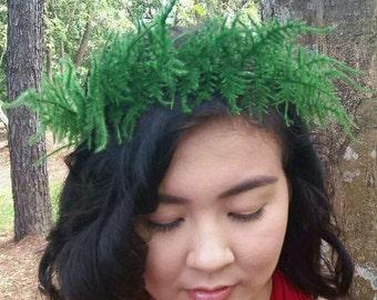 SALE! Flower Crown Fern Crown Hair Accessories Headpiece Circlet