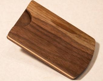 Walnut & Maple Wood Business Card Holder