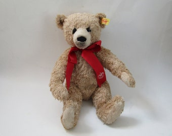 "Steiff FAO Schwarz 150th Anniversary Bear 681554  Button 12"" Teddy Bear"