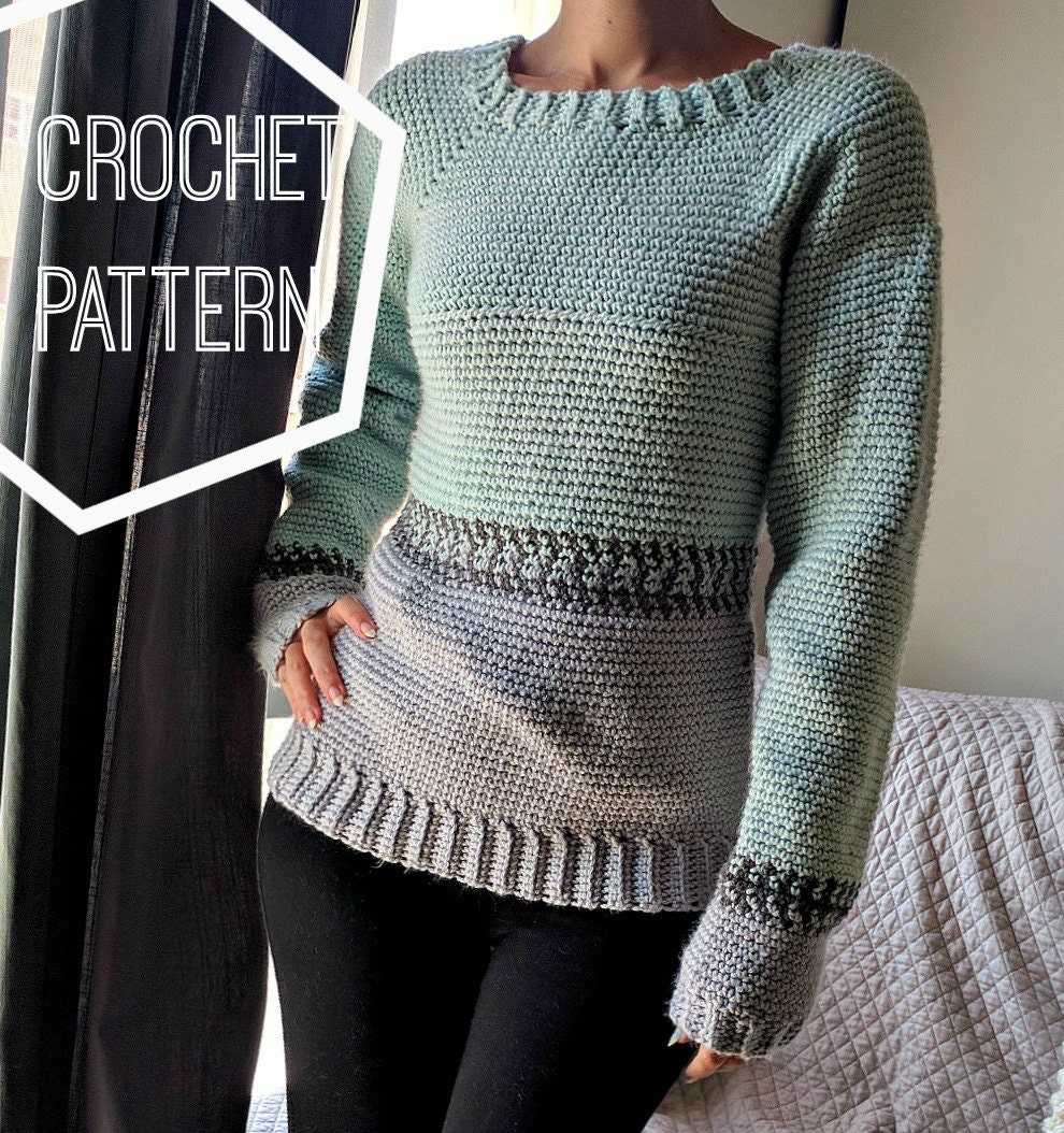 crochet fair isle pullover pattern crochet sweater pattern. Black Bedroom Furniture Sets. Home Design Ideas