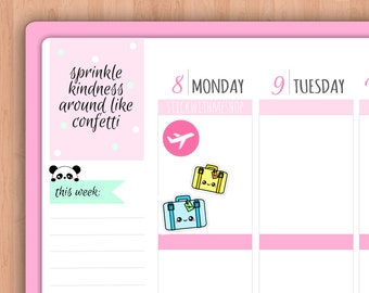 Travel/Luggage PLANNER STICKERS (SWM36)