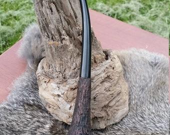 Tree Bark Hand Carved Churchwarden Tobacco Pipe