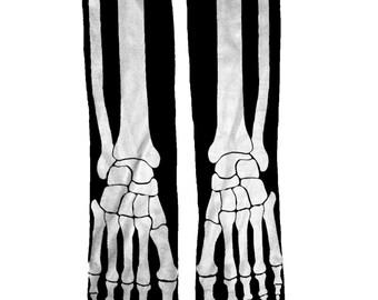 Skeleton Socks Halloween Fun Unique Birthday Gift