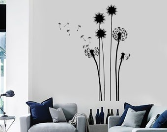 Wall Decal Flower Floral Plant Romantic Vinyl Sticker Art 1424dz