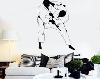 Wall Art Mural Jiu-Jitsu Judo Sport Fighting Marital Arts Decal 2244di