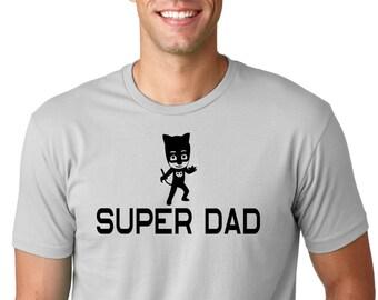 PJ Mask Super DAD, Tee Shirt, funny shirt.Dad Shirt, Birthday Shirt, Birthday Gift, Vintage Age, rad shirts, fashion funny,Paw Patrol