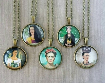 Frida Kahlo Necklace (Bronze or Silver)