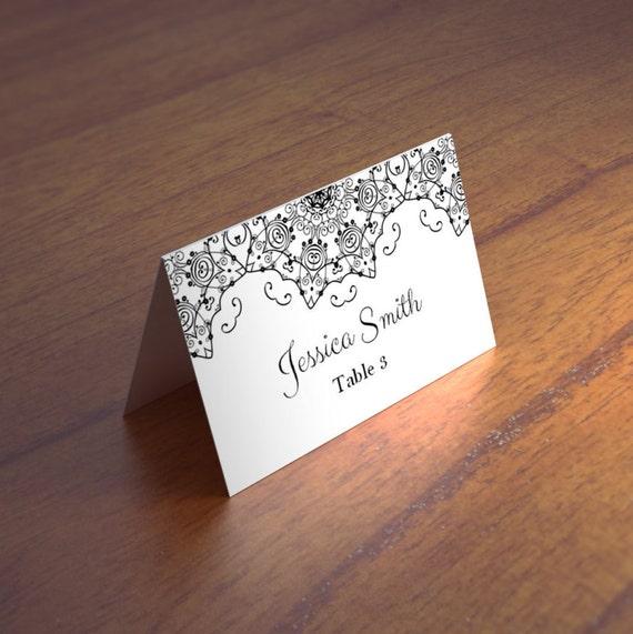 cards template wedding place card renaissance