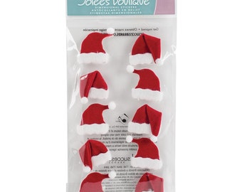 Jolee's Boutique Christmas Stickers - Santa Hats, Santa Hat Stickers
