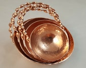Custom Order for chris38mcd  - Heavy Hammered Copper Measuring Cup Set