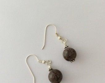 Browny grey earrings