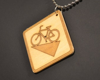 Road Sign Jewellery Bicycle Vs Hill