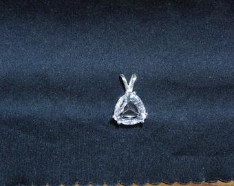 Stunning White  Sapphire Pendant