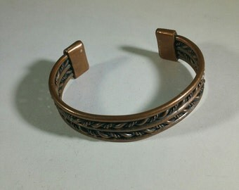 Copper/Brass Vintage Cuff Style Bracelet, could be worn by males or females.