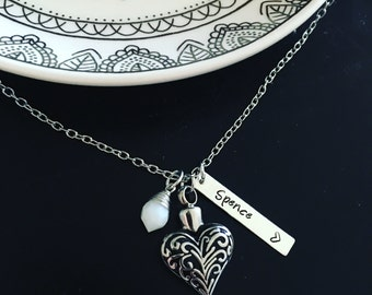 Cremation urn necklace / Heart urn / Remembrance / Memorial jewelry / Stainless steel keepsake / Urn pendant / grievence / Personalized urn