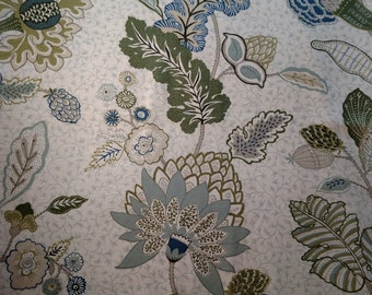 "1.3 Yards x 54"" Duralee Chilvers Home Interior Decorating Fabric"