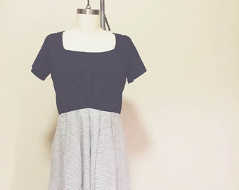 Upcycled Vintage Dress - Knife Pleats