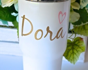 Personalized Stainless Steel Tumbler with Insulated Lid - 30oz., Custom Stainless Steel Tumbler