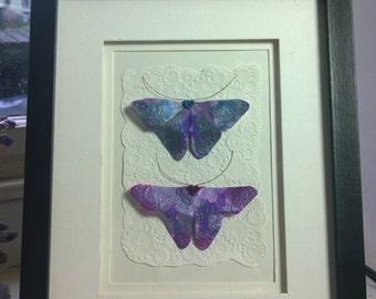 3D Steampunk Origami Butterfly wall art.