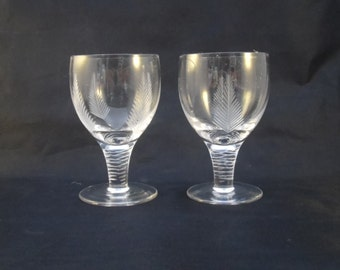 "Stuart Crystal ""Woodchester"" Small Claret Glasses"