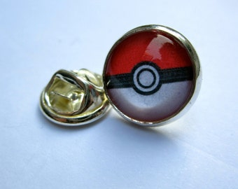Pokeball mini cameo brooch