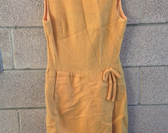 Vintage Mod 60s Wrap Front Shift Dress by Stacy Ames Size S / M