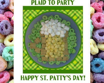 St Patricks Day Card, St Patricks Day, Happy St Patricks Day, St Pattys Day Card, Humor St Patricks, Beer Card, Funny Card, Pun Card, Cereal