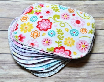 Set of 10 Cloth Wipes (Girls) - Cloth Diaper Wipes - Cloth Baby Wipes - Baby Washcloth - Reusable Wipes - Family Cloth
