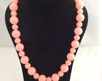 Two-beads pink necklace