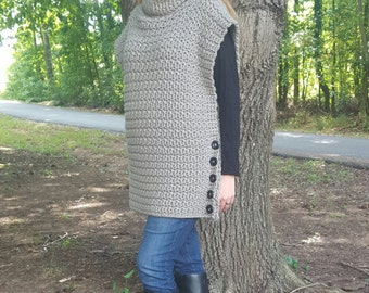 Women's Aura Crochet Pullover - Made to order