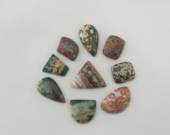 9 Pcs Lot of Ocean Jasper