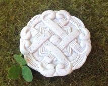 Irish fairy garden celtic knot medallion for leprechuan miniature gardens