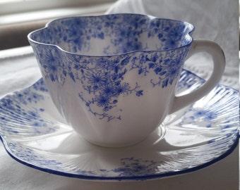 Shelley Dainty Blue teacup and saucer set