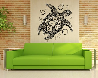 Turtle Wall Decor turtle wall decal | etsy