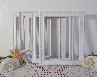White Shabby Chic Ornate Picture Frame 8 x 10 Photo Decoration Spring Summer Fall Winter Wedding Reception Decoration Cottage Home Decor