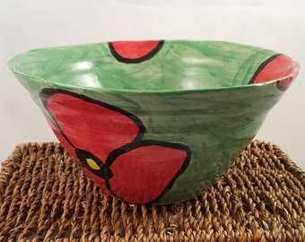 Red Poppy Bowl,