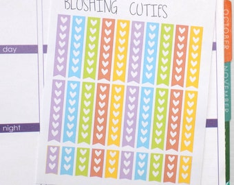 30 Heart Checklist Stickers To Use With Erin Condren Planner