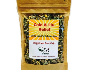 Cold & Flu Relief Herbal Tea   Combination of Natural Herbs When Feeling Under The Weather   Essential Support For The Immune System  