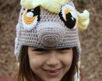 Derpy Hooves Costume, PDF Instructions for My Little Pony Costume, Crochet Pattern, Girls Crochet Hat Pattern, Toddler Crochet Hat,