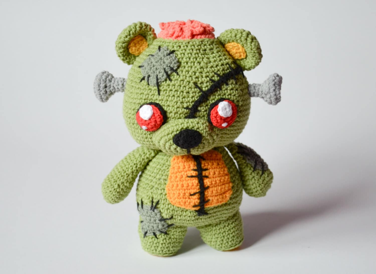 Crochet pattern frankie the zombie teddy bear by krawka zoom bankloansurffo Choice Image