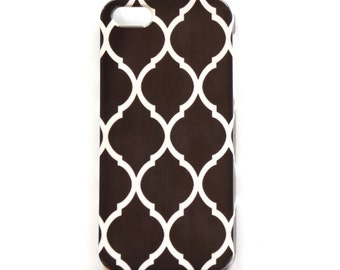 Black & White iPhone Case, Geometric Cell Phone Cover, Moroccan Phone Case for iPhone 5/5S