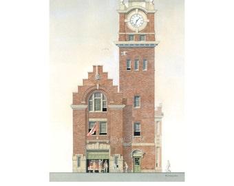 Fire House Art, Hall 17, Queen St. Toronto // Fire Station, Fire Hall, Toronto Architecture,  The Beach, The Boardwalk, Kew Garden, Beaches.