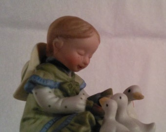 Holly Hobbie, vintage, collectible, geese, miniature