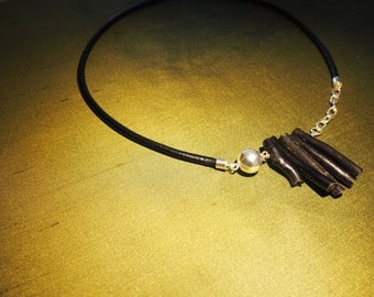 Black dyed Bamboo Coral Necklace