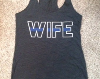 Police Wife Thin Blue Line Tank