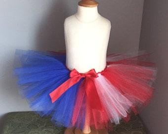4th of July Tutu Skirt, Patriotic Tutu, Red White Blue Tutu,Fourth of July, Baby Girl Tutu, Newborn Tutu, Toddler Tutu, American Flag Tutu