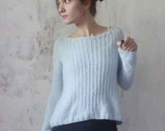 READY TO SHIP! Air alpaca sweater. Delicate warm sweater.