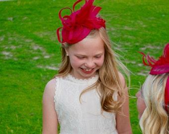 Hot Pink Fascinator, Tea Party Hat, Church Hat, Kentucky Derby Hat, Fancy Hat, Pink Hat, Tea Party Hat, wedding hat, British Hat