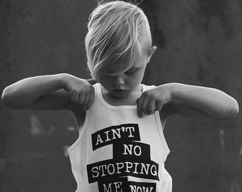 Girl Toddler Clothes - Unisex Baby Clothes - Toddler Tank Tops - Cool Kids Clothing - Baby Boy Modern Clothes - Hipster Baby - No Stopping